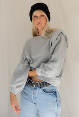 CALIstyle Hit Me With Your Best Shot Grey Sweatshirt