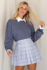 worn with the Not Your Boyfriends Button Down Shirt & LA Girl Sweatshirt In Blue
