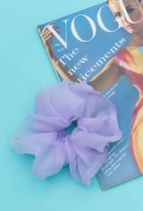 The Gigi Organza Scrunchie In Lavender
