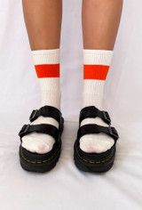 All About The Vibe Socks Orange Stripe