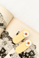 The Rachel Hair Barrette/Clip In Yellow Floral