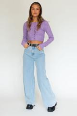 CALIstyle Blue Jean Baby Wide Leg Jeans In Light Denim