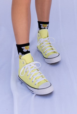 CALIstyle Flower Power Socks In Black