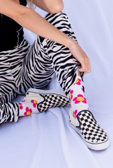 CALIstyle Flower Power Socks In Hot Pink