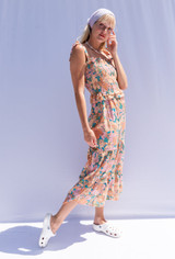 CALIstyle Tuscany Sun Midi Dress In Retro Floral