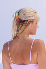 CALIstyle Summer Sun Hair Clip/Claw In Rainbow