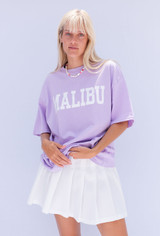CALIstyle Malibu Days Oversized Tee In Lilac