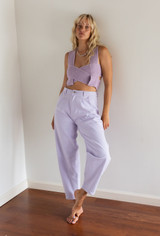 CALIstyle 90's Baby High Rise Slouchy Jeans In Lavender