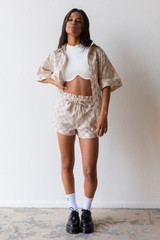 CALISTYLE City Girl Short In Beige Check