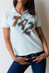 Vintage Looney Tunes Embellished Taz Polo Shirt/Top - Never Worn