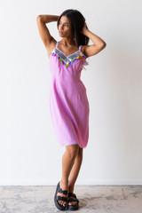 Vintage x Resurrection Fresh Los Angeles Sparkle Slip Dress In Pink Berry - Never Worn