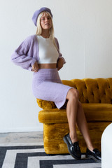 CALIstyle Travel Diaries Knit Skirt/Dress In Lavender - RESTOCKED