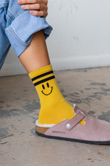 CALIstyle All Smiles Socks In Gold
