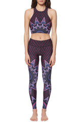 Mara Hoffman Starbasket Cutout Crop Top in Burgundy front view