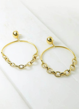 Vanessa Mooney Diggers Hoop Earrings