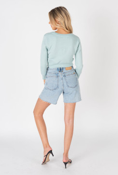CALIstyle Sunset Sky Cardigan In Mint/Blue - RESTOCKED