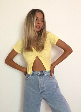CALIstyle Ray Of Light Cardigan/Top In Yellow