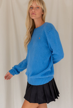 Vintage x Resurrection Polo by Ralph Lauren Sweater In Sky Blue - SOLD OUT