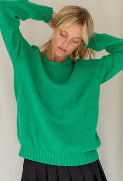 Vintage x Resurrection Polo Pullover Sweater In Green - SOLD OUT