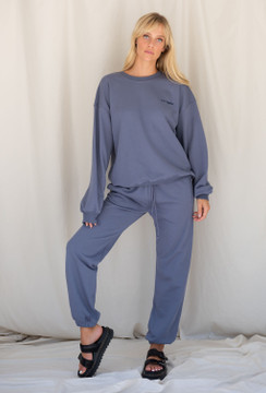 CALIstyle LA Girl Sweatpant In Slate Blue