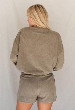 CALIstyle Perfect Match Lounge Terry Set Sage