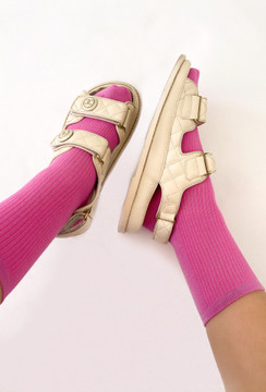 90's Nostalgia Socks In  Fuchsia