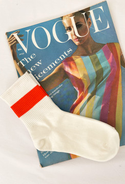 CALIstyle All About The Vibe Socks In Orange Stripe