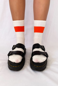 All About The Vibe Socks Orange Stripe