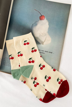 With A Cherry On Top Socks