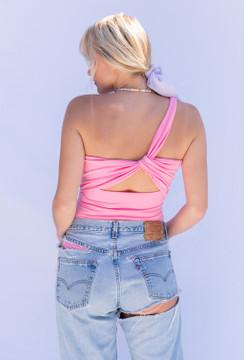 CALIstyle Wear It Two Ways Bodysuit In Bubble Gum Pink