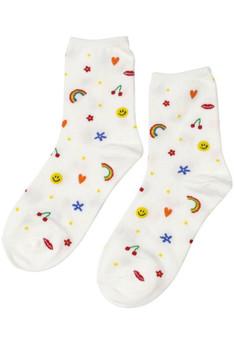 CALIstyle All The Feels Emoji Socks In White