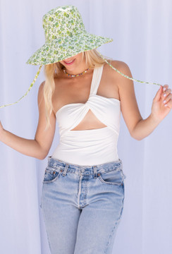 CALIstyle Wear It Two Ways Bodysuit In Ivory