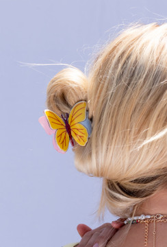 CALIstyle Monarch Butterfly Clip In Yellow