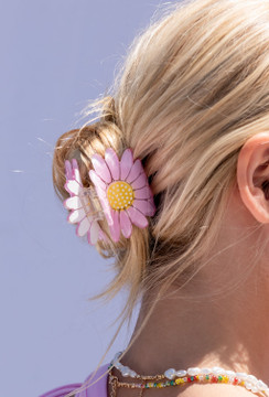 CALIstyle Where The Flowers Are Hair Clip/Claw In Pink