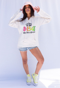 Vintage x Resurrection Pullover Hooded Phi Beta Corona Beach Cover Up/Top