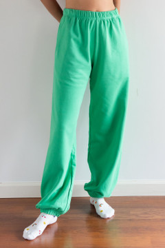 CALIstyle Color Pop Sweat Pants In Green