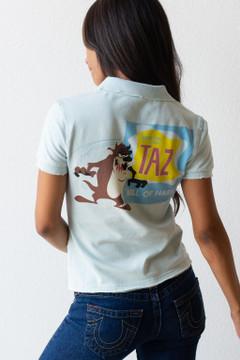 Vintage x Resurrection Looney Tunes Embellished Taz Polo Shirt/Top - Never Worn