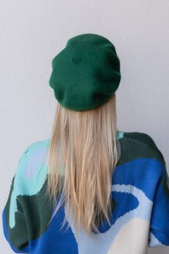 CALIstyle Paris In Fall Beret In Green