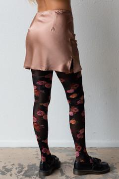 CALIstyle French Girl Satin Mini Skirt In Mocha