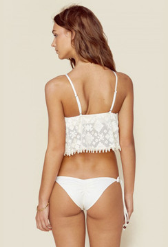 Blue Life Tribal Tie Side Bottom in White Sand back view
