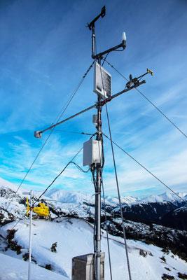 Remote weather station at Mt. Roberts in Juneau, Alaska
