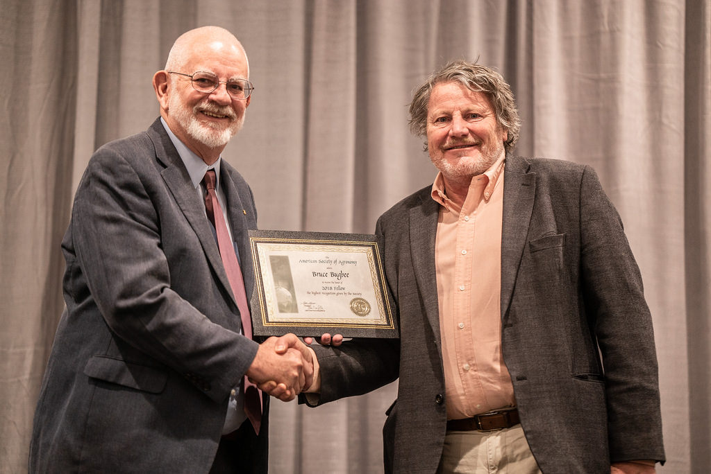 Dr. Bruce Bugbee recieves Fellow of the American Society of Agronomy (ASA)