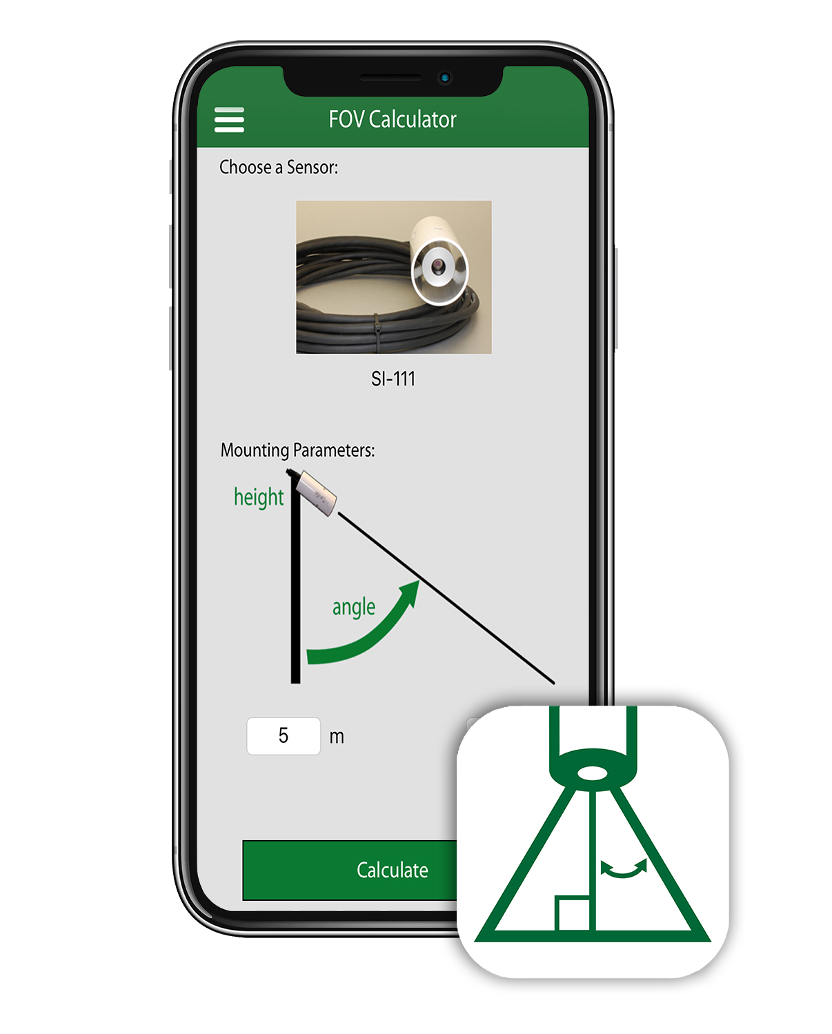 Field of View Calculator App