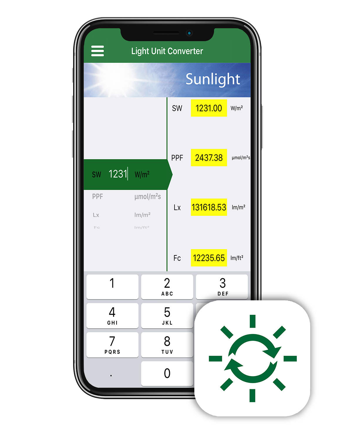 Light Unit Converter App