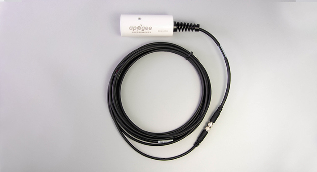 Apogee Instruments SI-431 SDI-12 Digital Output Ultra-narrow Field of View Infrared Radiometer with cable connector.