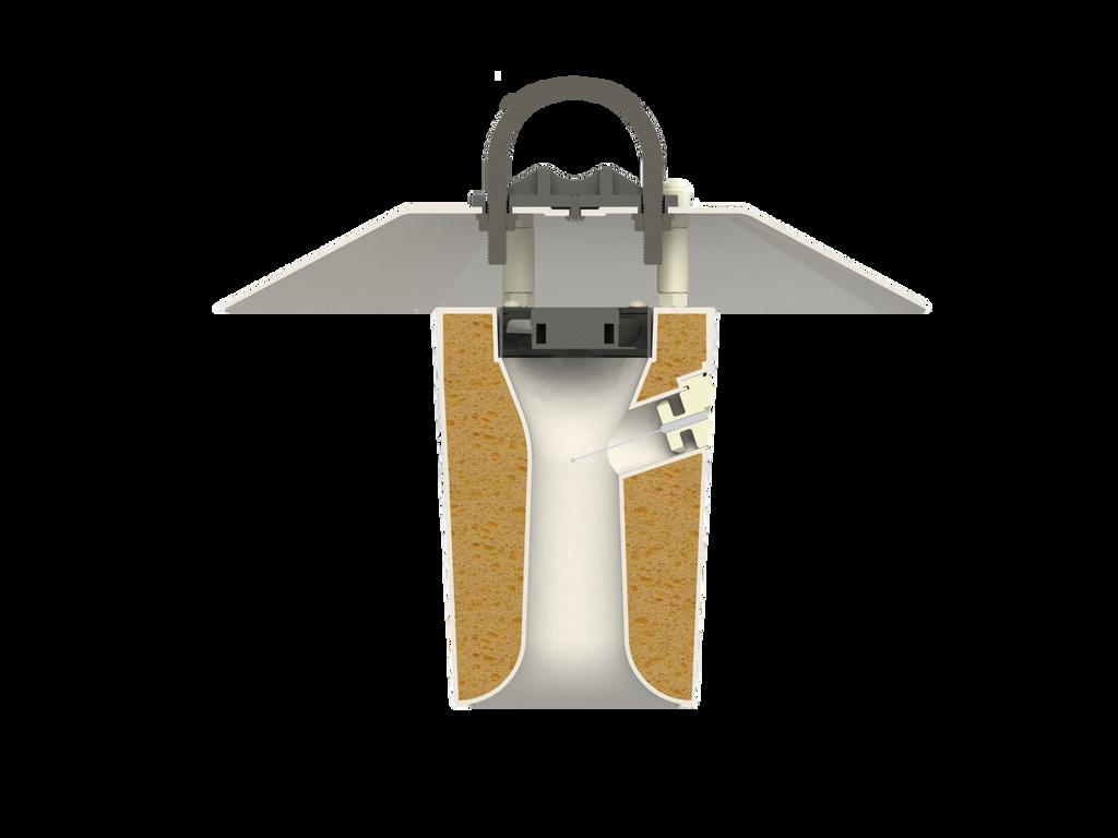 TS-100 cross section showing ST-150 PRT inside the shield.