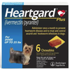 Heartgard Plus Chewable Tablets for Dogs Up to 25 lbs (6 Chews)