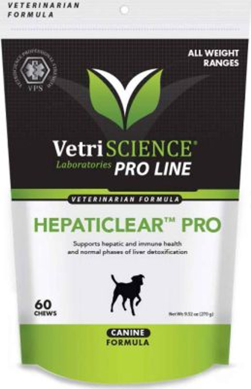 VetriScience Hepaticlear Pro Chews for Dogs (60 Chews)