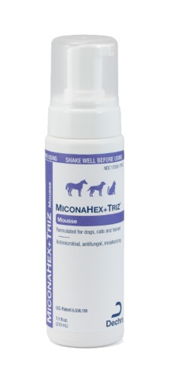 Dechra MiconaHex+Triz Mousse (7.1 oz. Bottle)