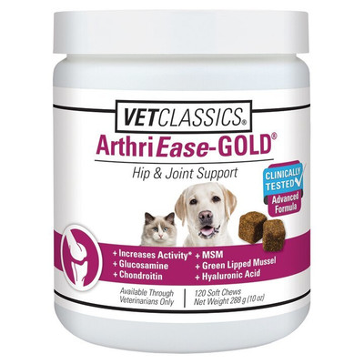 Vet Classics ArthriEase Gold Soft Chews for Dogs and Cats 120 Count